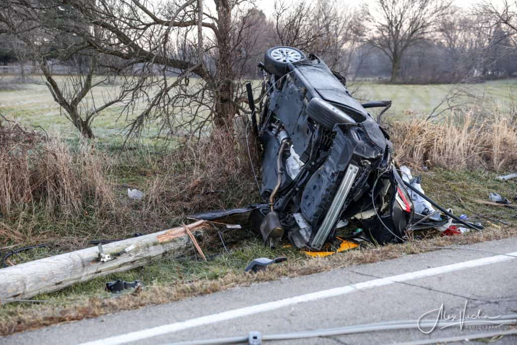 Man killed, woman in serious condition after Woodstock rollover crash; driver charged with DUI