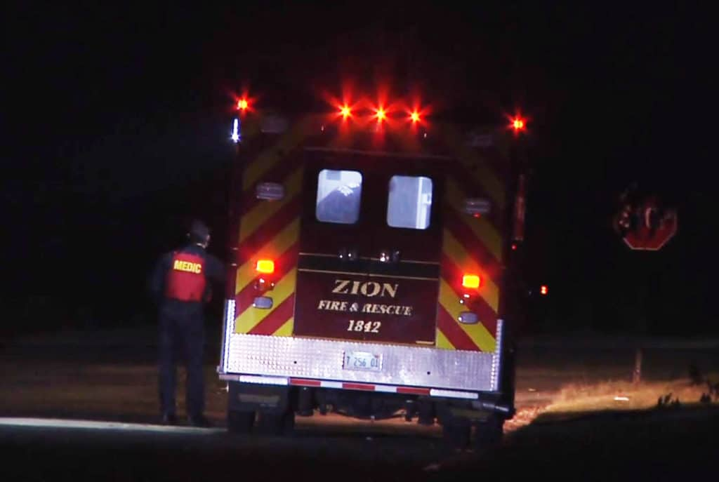 Gunman opens fire on group of people leading to crash in Zion