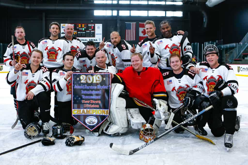 Lake County firefighters win military hockey tournament in Las Vegas
