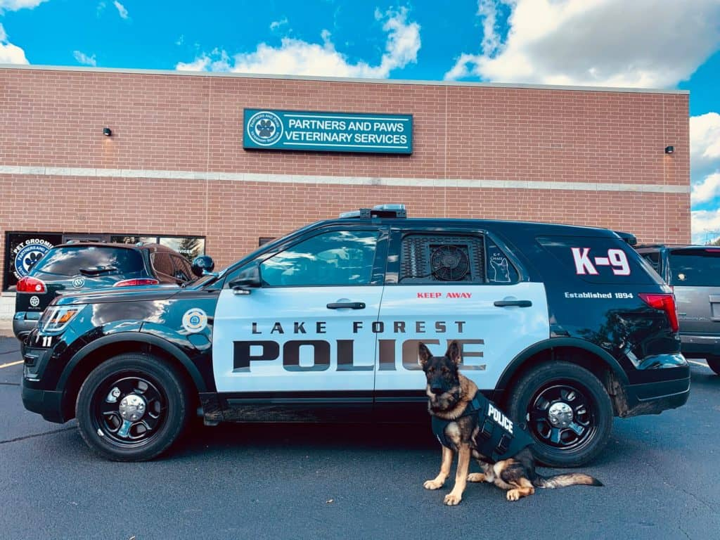 Non-profit donates body armor to Lake Forest Police Department canine