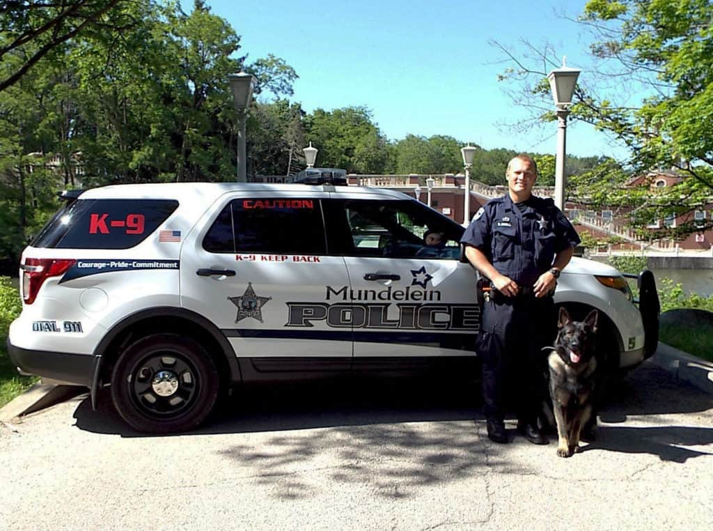 Mundelein police K-9 Titan recognized for apprehending 4 suspects in separate incidents