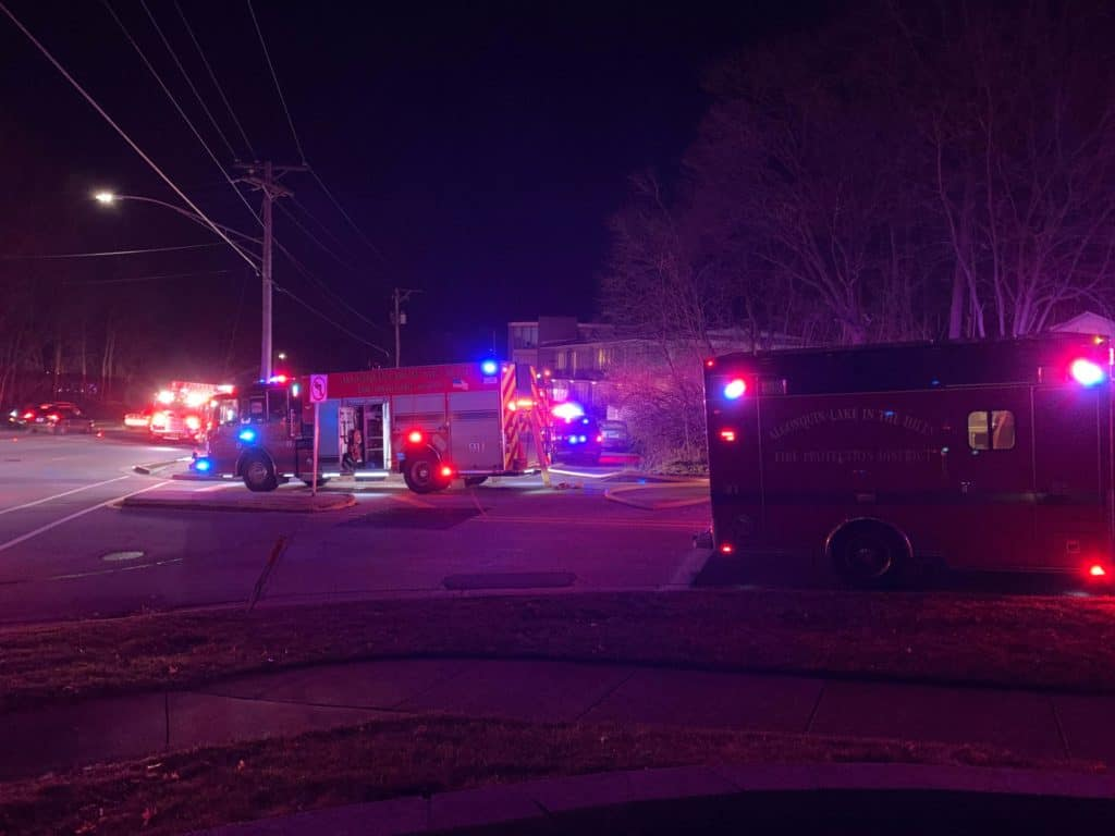 Family displaced after apartment fire in Algonquin