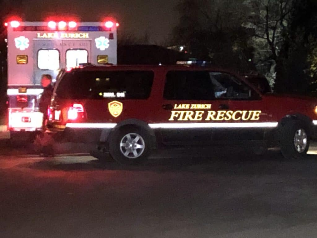 Firefighters rescue mother clinging to ice after falling into pond in Deer Park