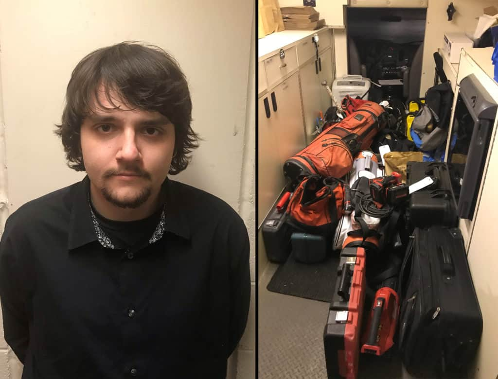 Man charged after over 100 items recovered from vehicle burglaries in Lake, McHenry counties