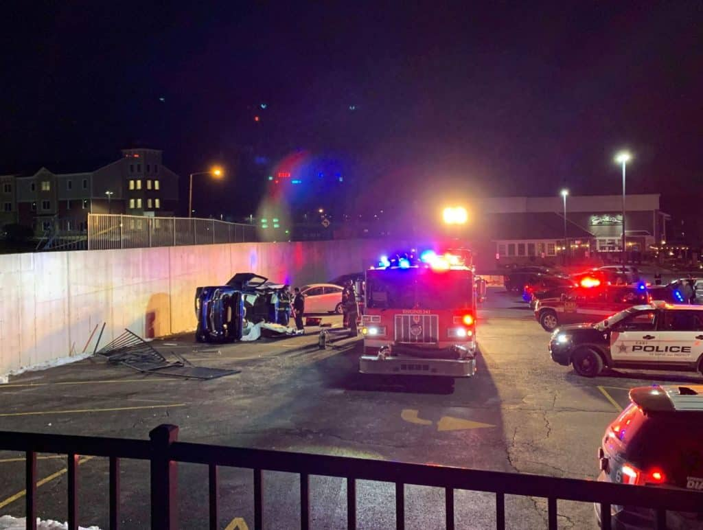 Man charged with DUI after driving truck off retaining wall, rolling it over in Cary
