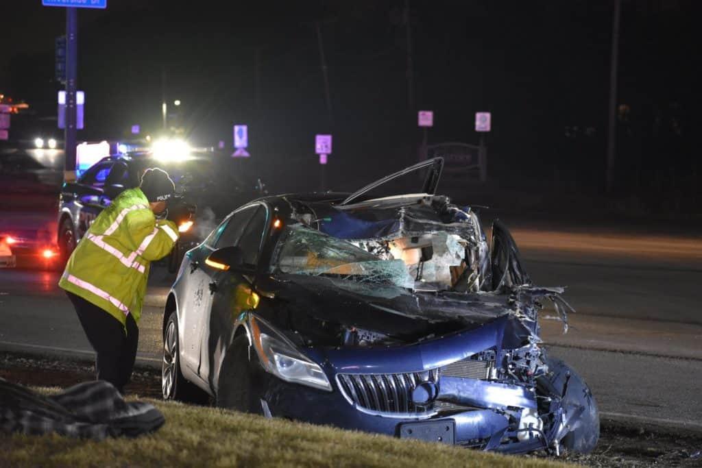 Man in critical condition after crash involving car, semi-truck in Gurnee