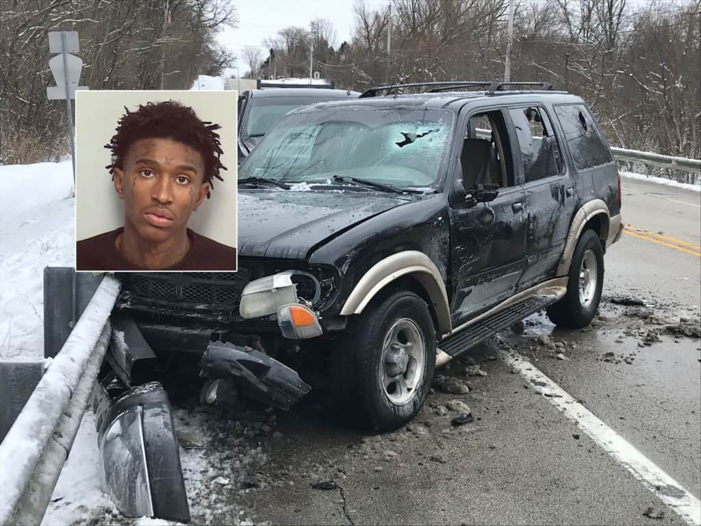 Wanted shooting suspect arrested after ramming into squad car, leading to vehicle chase in Zion