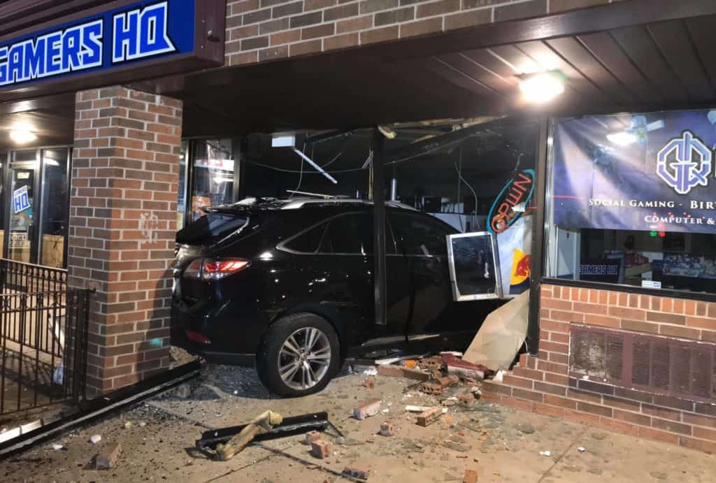 No injuries after SUV crashes into building in Third Lake