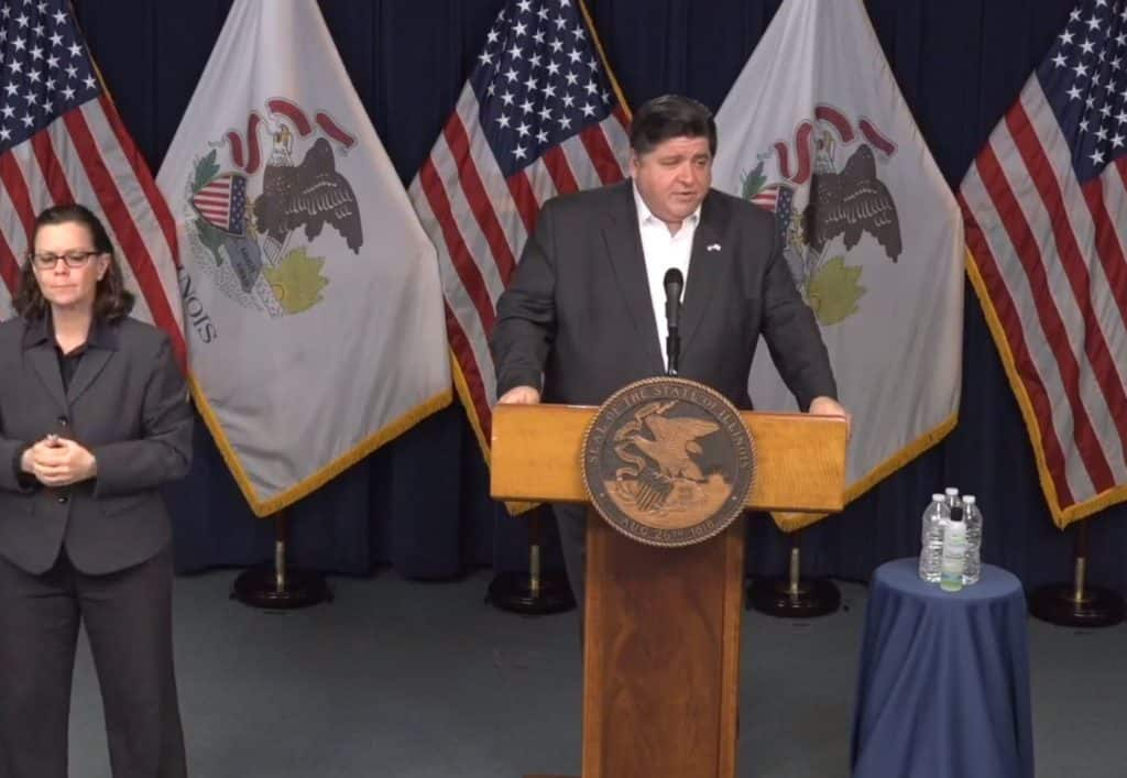 Lowest number of COVID-19 deaths reported in 6 days in Illinois, governor says