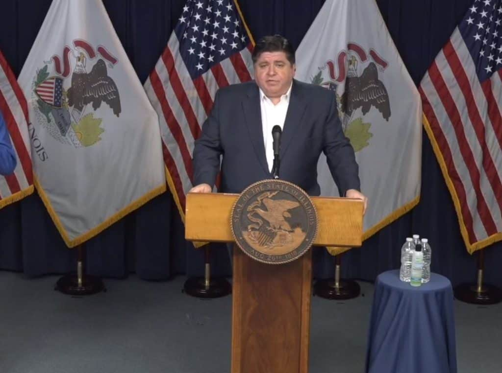 "Gov. Pritzker says ""We are, in fact, bending the curve"" of coronavirus cases"
