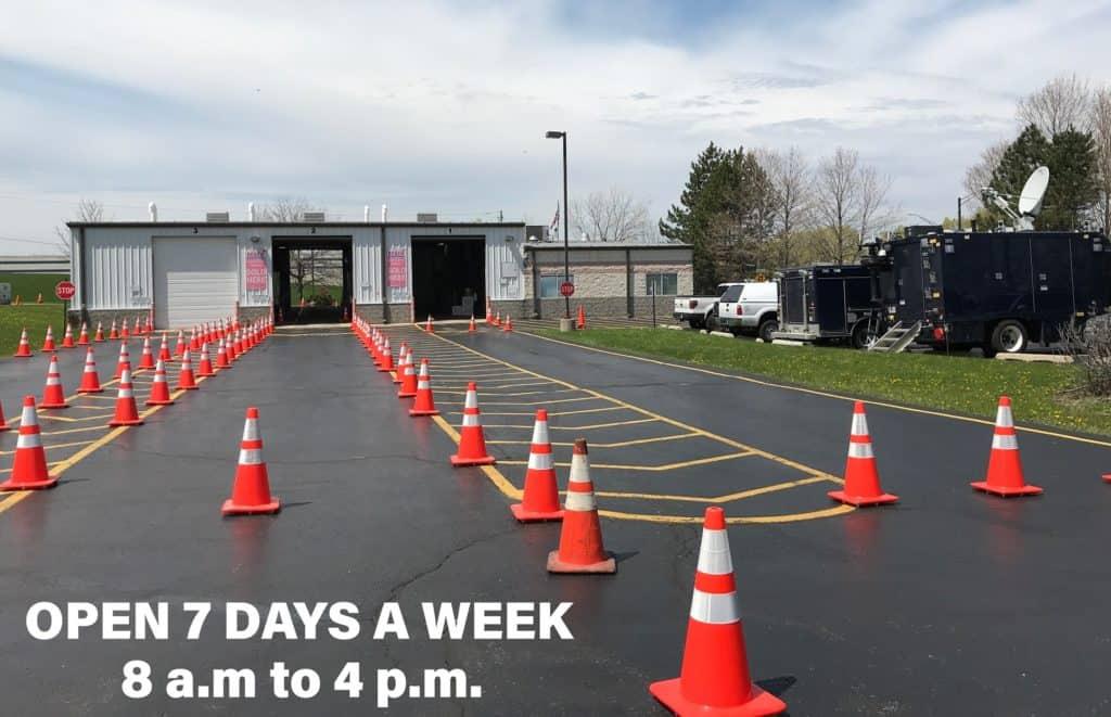 Free COVID-19 drive-thru testing facility opening in Waukegan