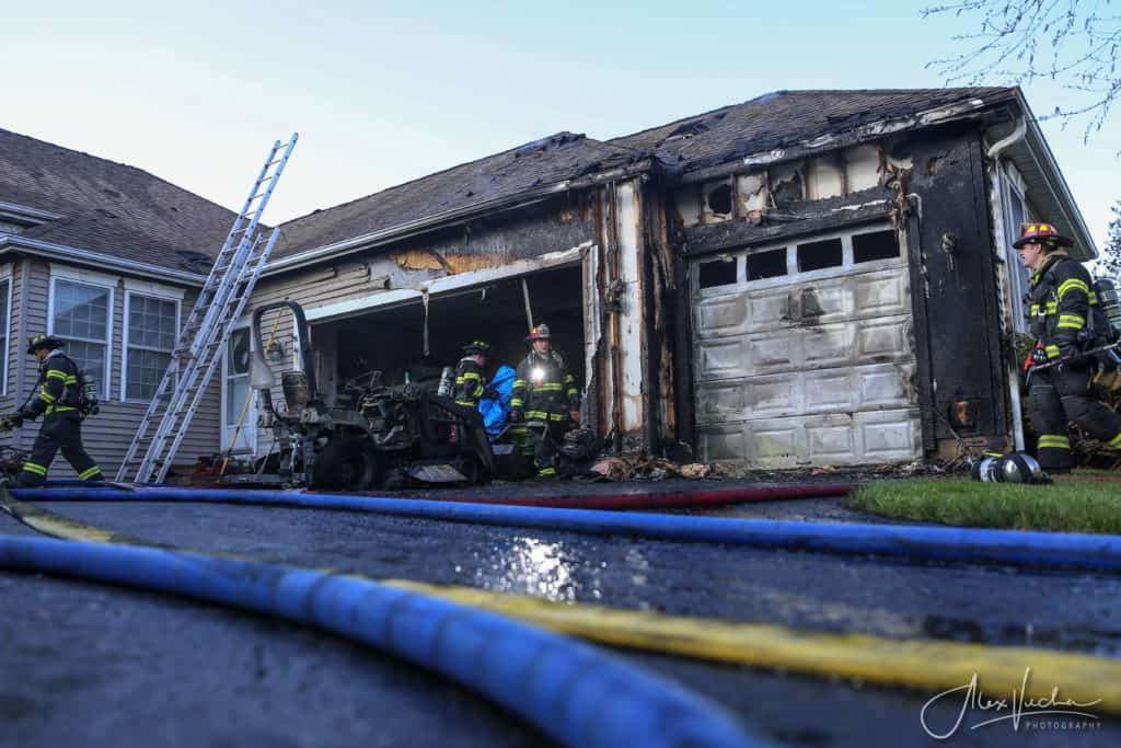 Lawn mower bursts into flames, catches Ringwood home on fire