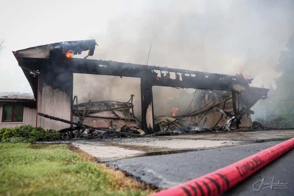 Fire causes significant damage to house in unincorporated Woodstock