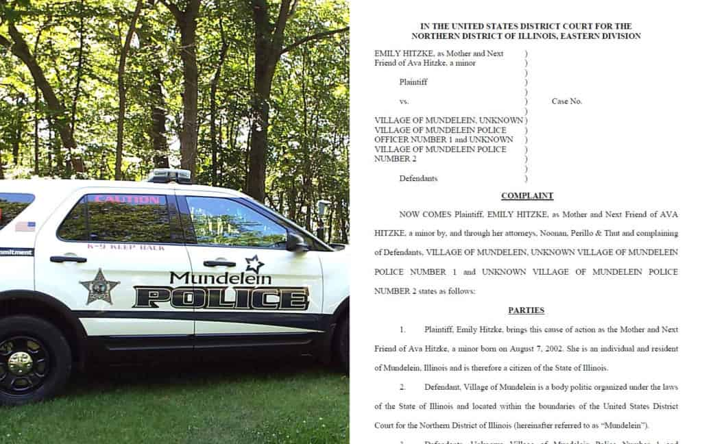 Lawsuit alleges Mundelein police burned girl's wrist trying to saw off handcuffs
