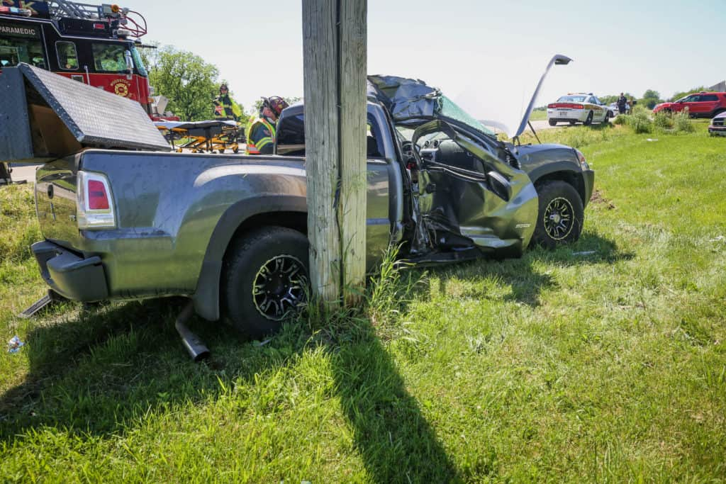 15-year-old girl critically injured after vehicle strikes pole near Woodstock
