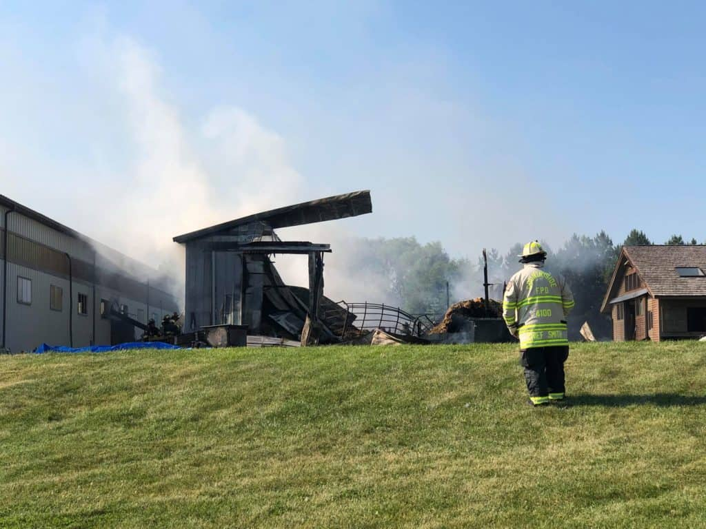 Fire destroys barn in unincorporated Mundelein