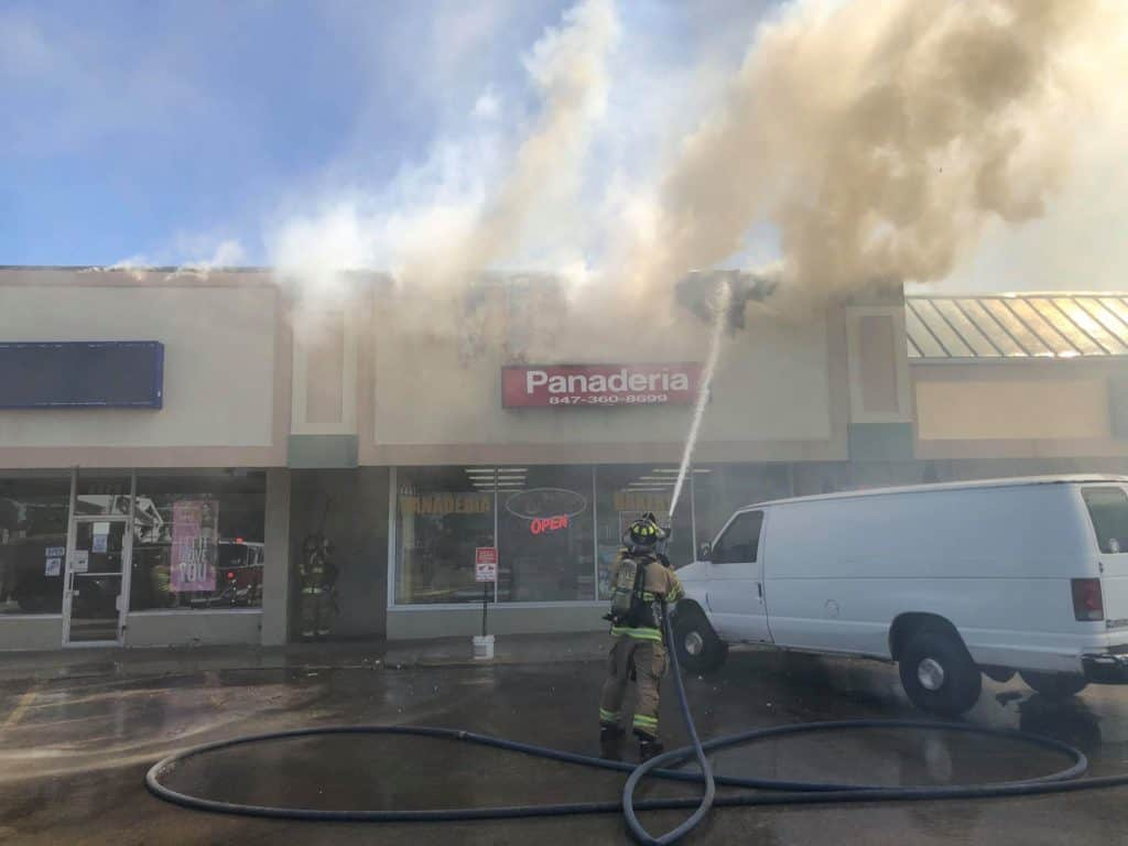 Fire at strip mall in Waukegan under investigation