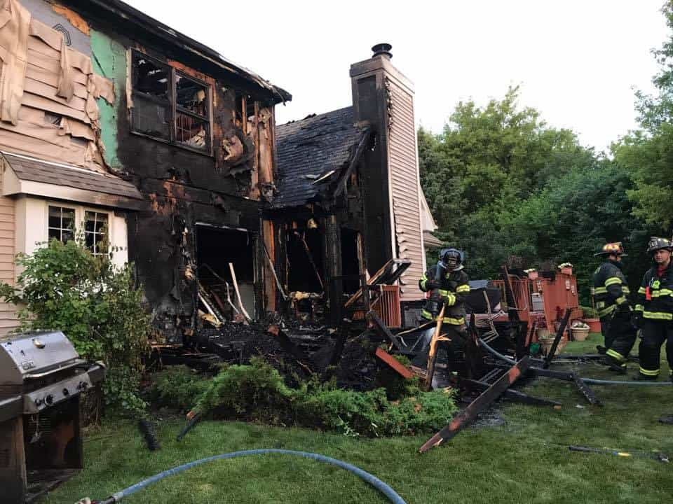 Lake Zurich home uninhabitable after fire spreads from deck to house