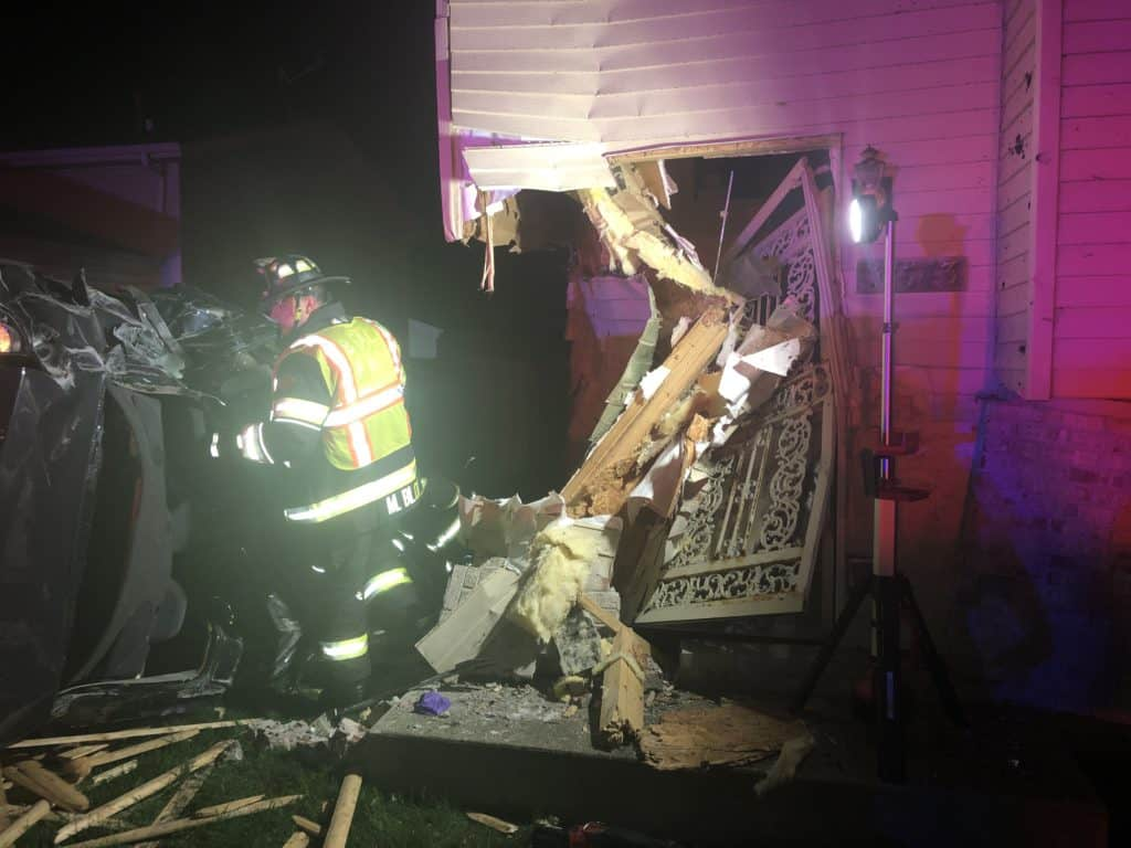 3 injured after stolen car crashes into Beach Park home