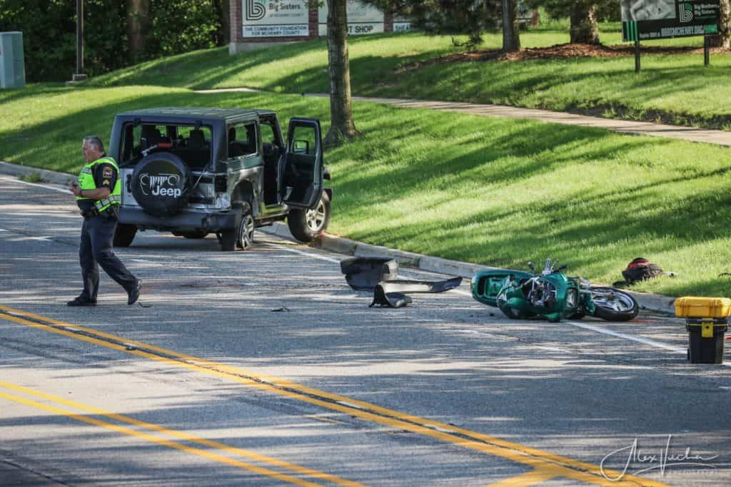 Man charged after 1 dead when 2 vehicles, motorcycle collide in Crystal Lake