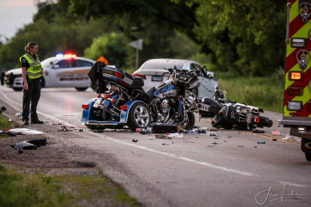 1 dead, 2 seriously injured after sedan crashes head-on into two motorcycles in Holiday Hills