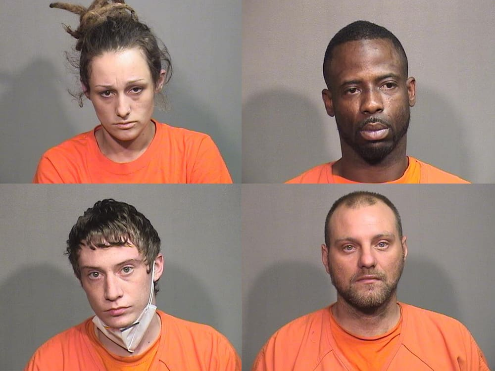 4 charged with burglarizing store in Woodstock, stealing lawnmowers