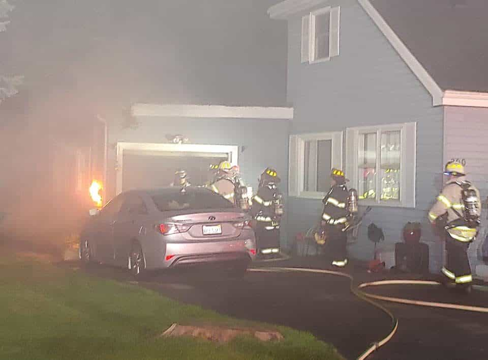 No injuries after garage fire in Oakwood Hills