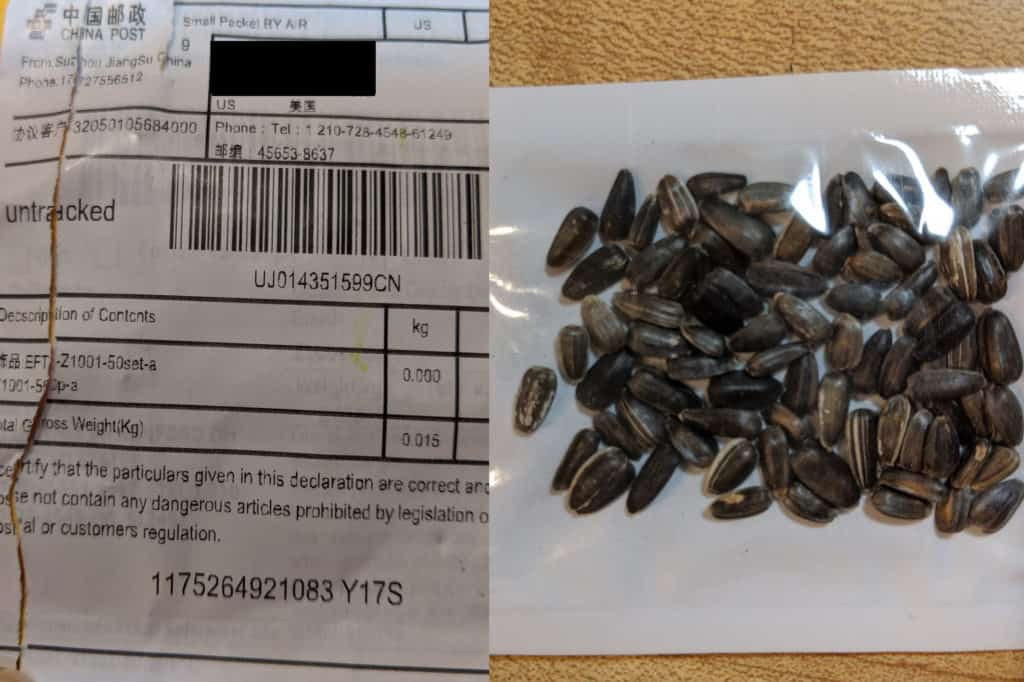 Police, government warn of residents receiving mysterious seeds in the mail