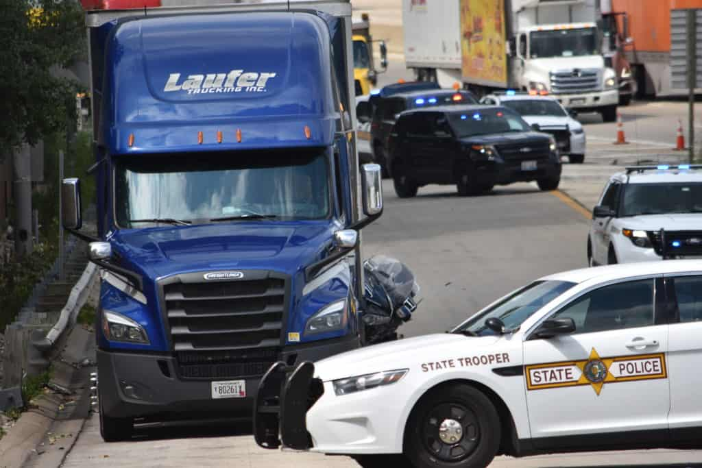 Motorcyclist killed after rear-ending semi-truck near the Lake Forest Oasis