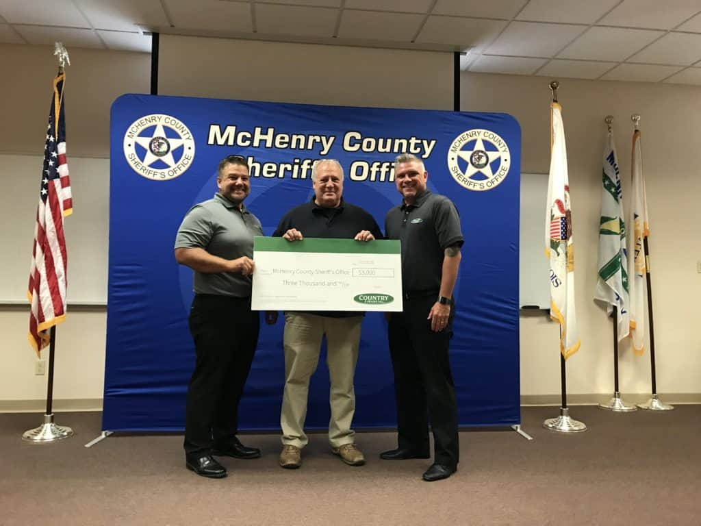 McHenry County Sheriff's Office receives donation for training, equipment