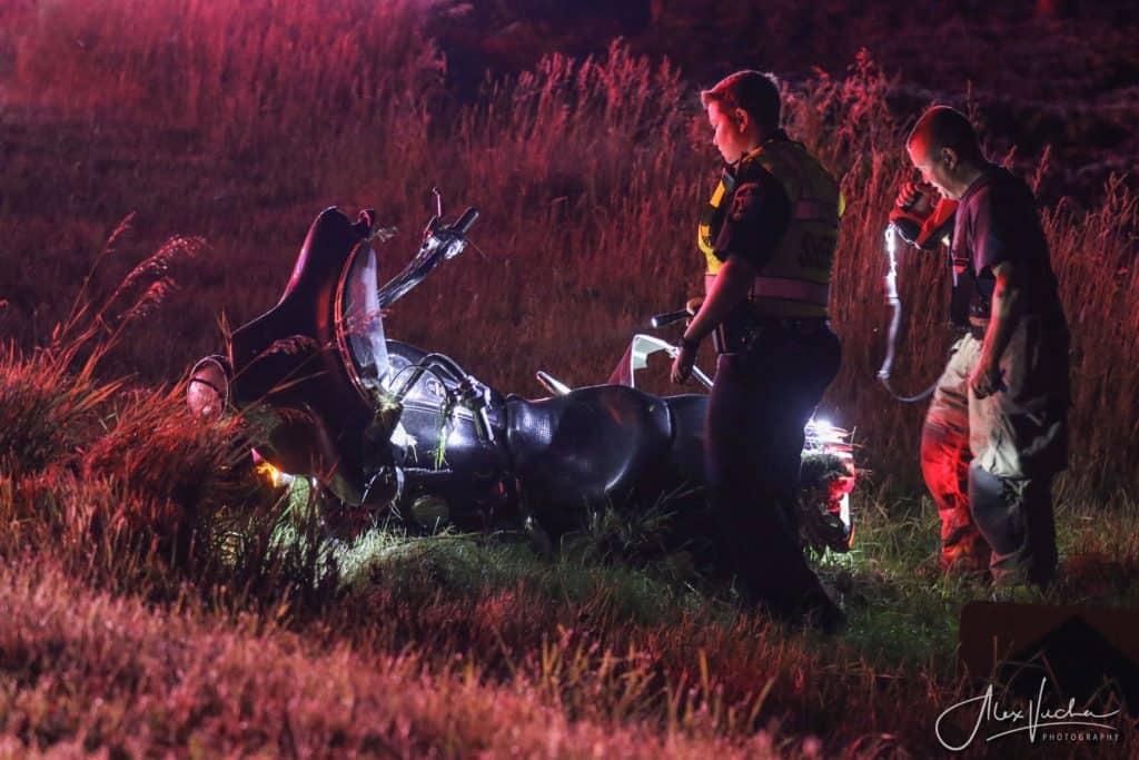 Motorcyclist suffers life-threatening injuries in crash near Harvard