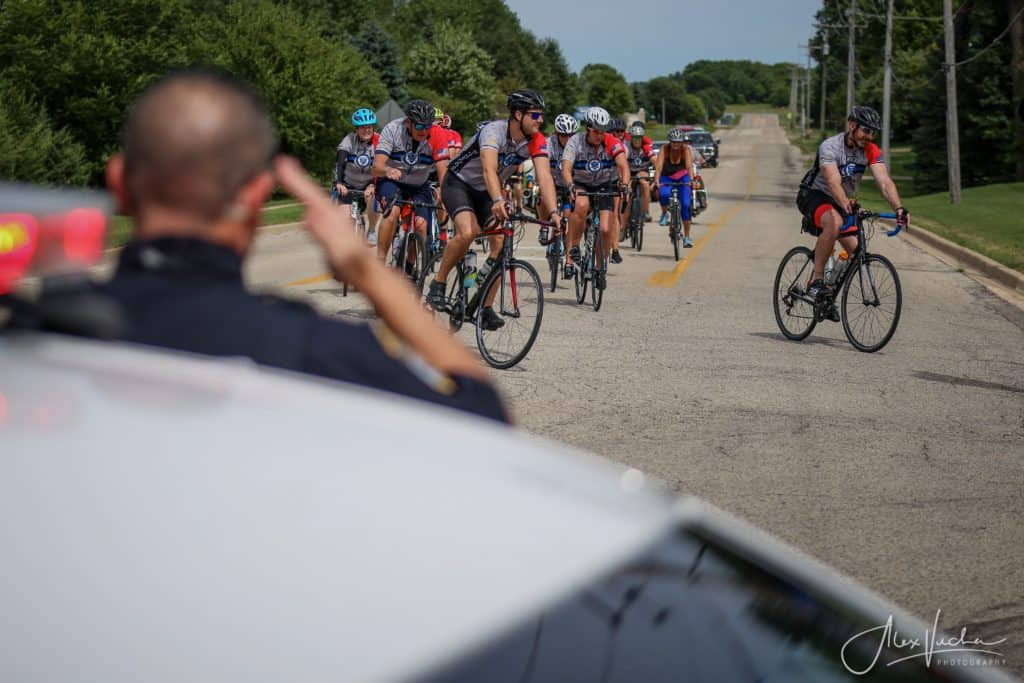 Members of non-profit bike across McHenry County in annual ride for fallen police officers