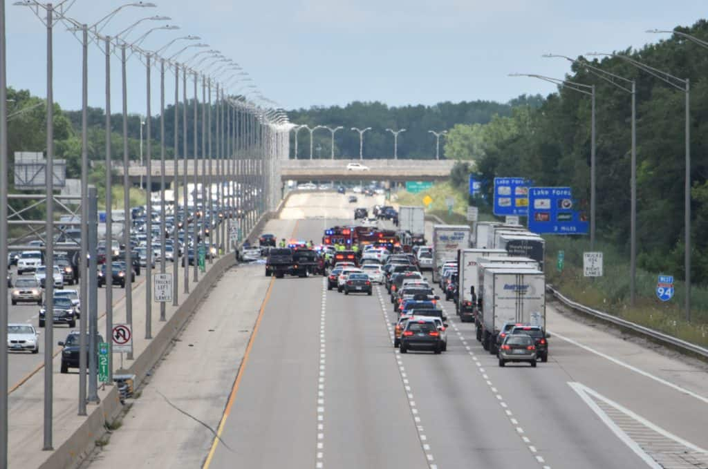 Authorities identify 21-year-old man killed in high-speed crash on I-94 near Lake Forest