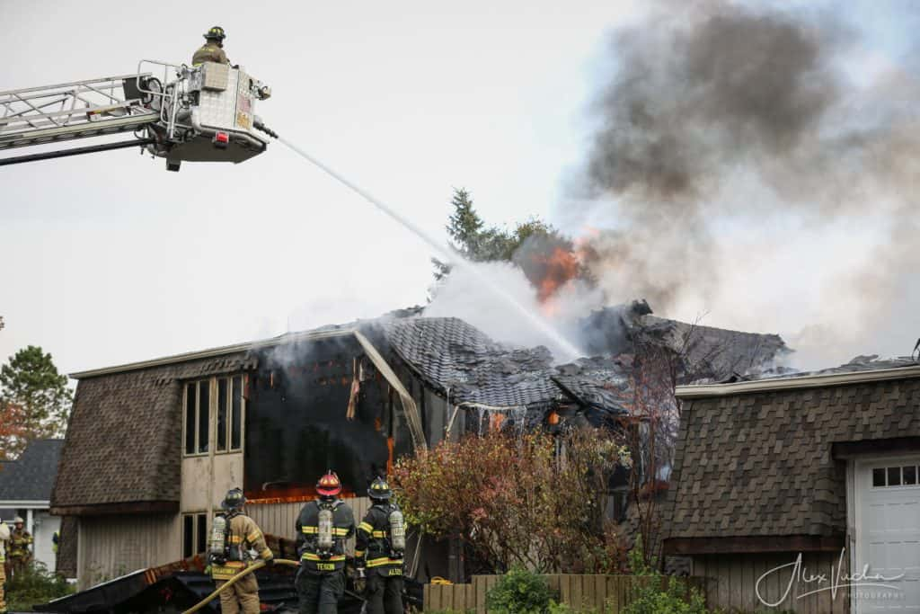 Fire causes Lakewood home to partially collapse, sustain $350,000 in damage