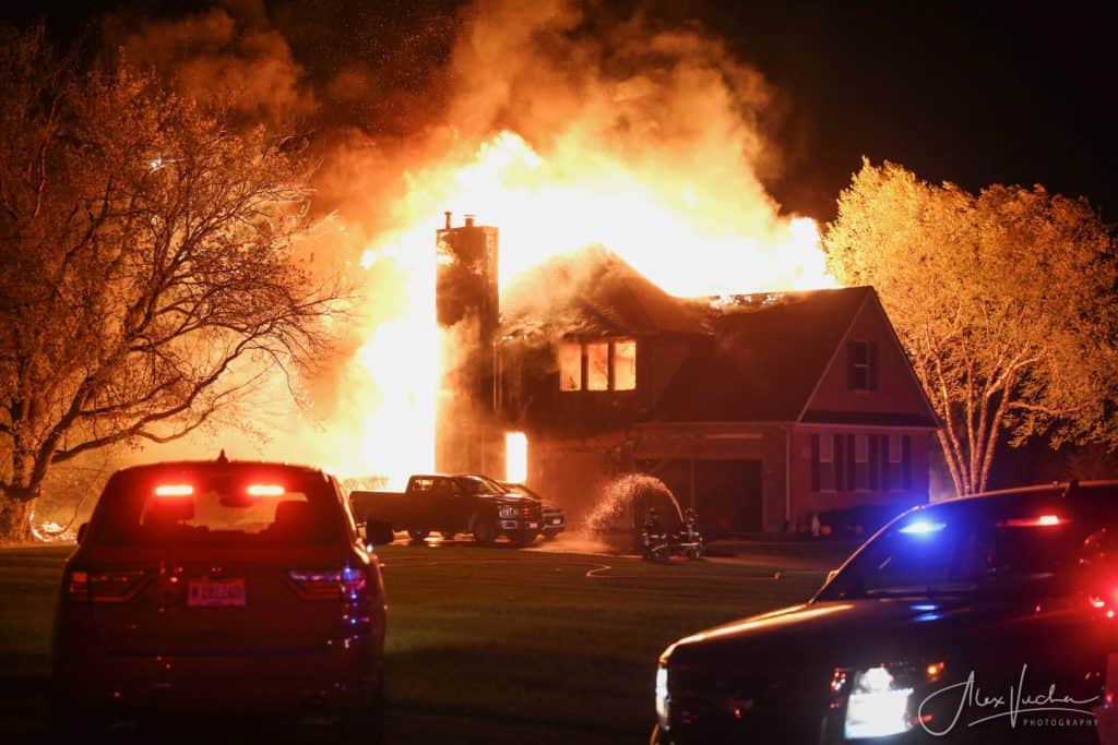 Flames fully engulf McHenry home, cause more than $500,000 in damage