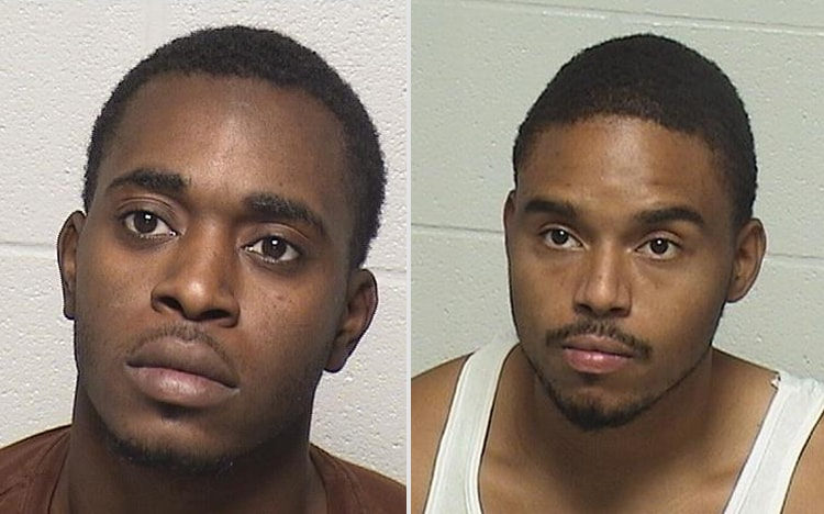 Two men charged in connection with two separate armed robberies in Beach Park