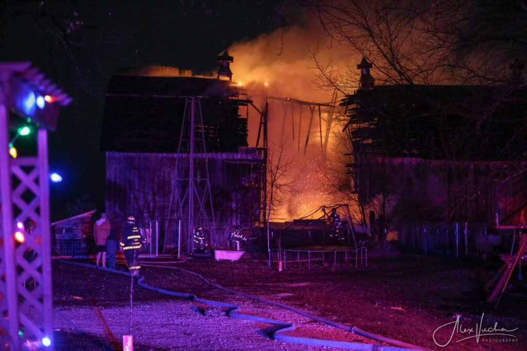 Several animals killed in dairy barn fire in McHenry County