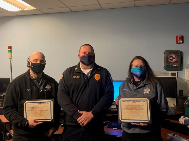 Paramedics, dispatchers and police officer honored for saving life of unresponsive person in Vernon Hills