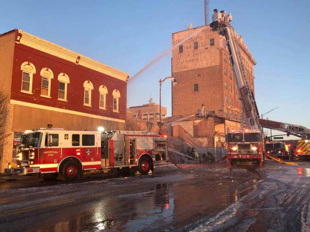 Firefighters battle 3 structure fires on Christmas Eve, Christmas Day in Waukegan