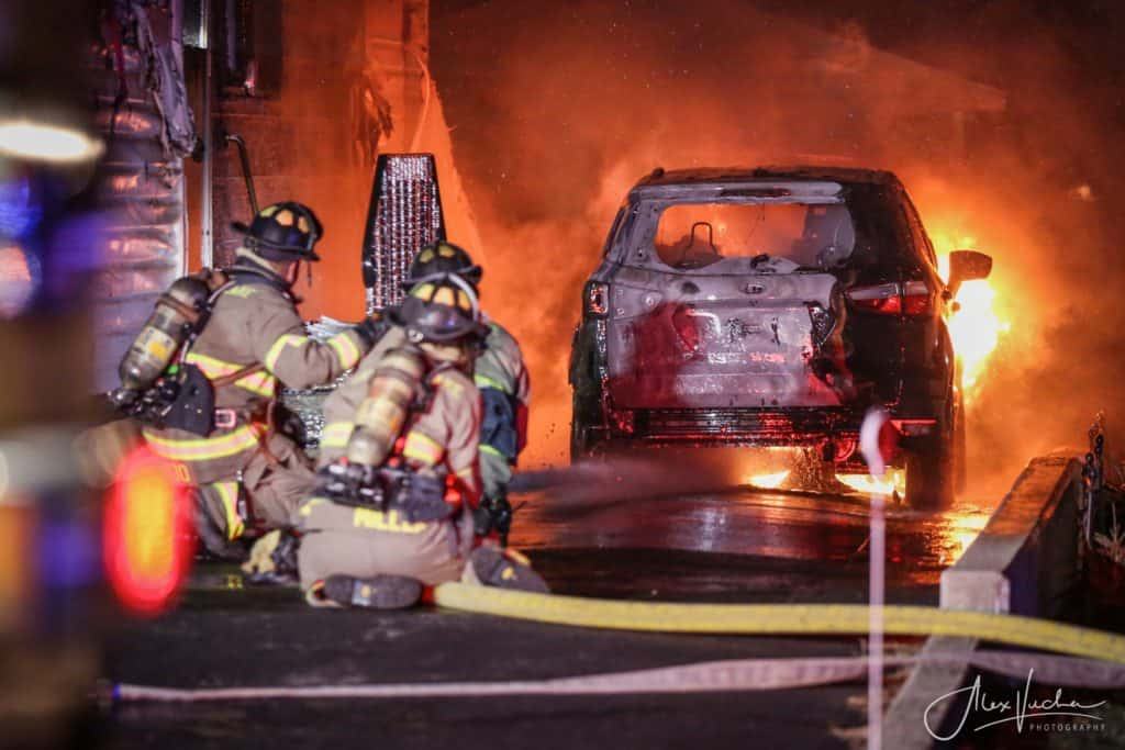 1 resident treated after car catches fire, spreads to Crystal Lake home