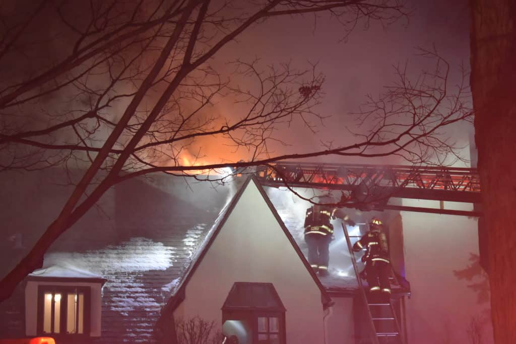 No injuries after fire spreads through attic of Highland Park home