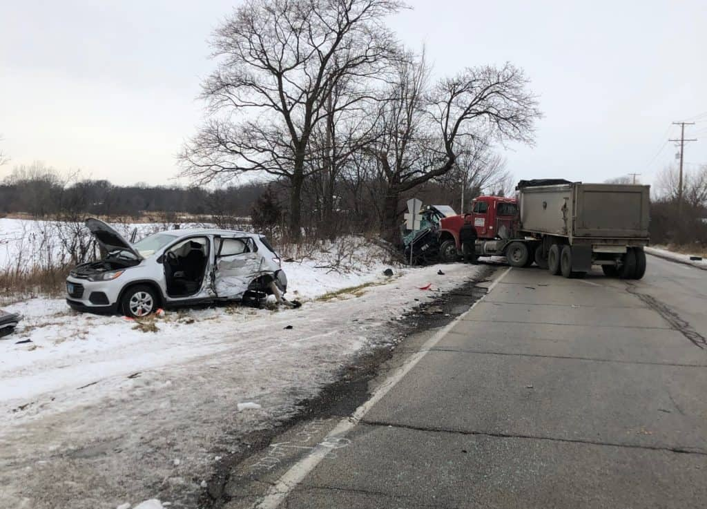 McHenry man killed in three-vehicle crash involving dump truck in Wauconda Township