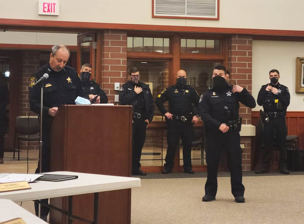 Huntley police officer receives life-saving award for rescuing woman and her dog from house fire