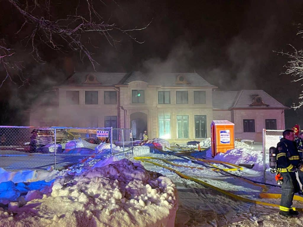 'Stubborn' fire at Lake Forest home under construction took several hours to extinguish, officials say