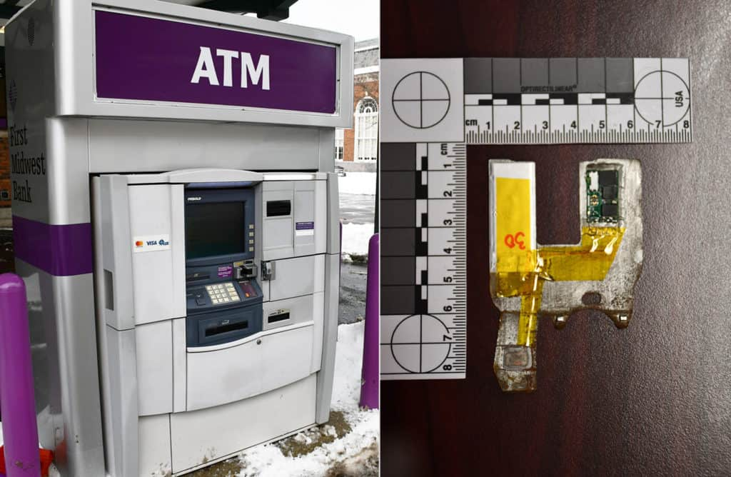 Police warn public after skimmer device found on ATM at bank in Lake Forest