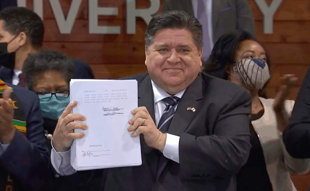 'Justice is being advanced once again' Gov. Pritzker says before signing massive criminal justice reform bill into law