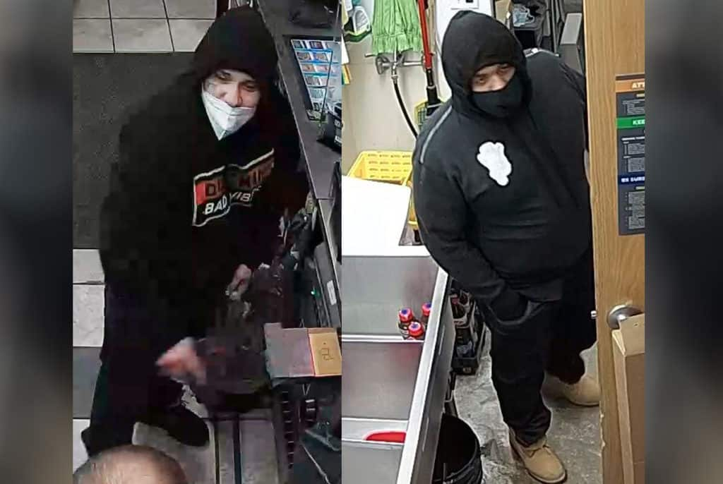 Police release surveillance photos of suspects who shot gas station clerk in Marengo