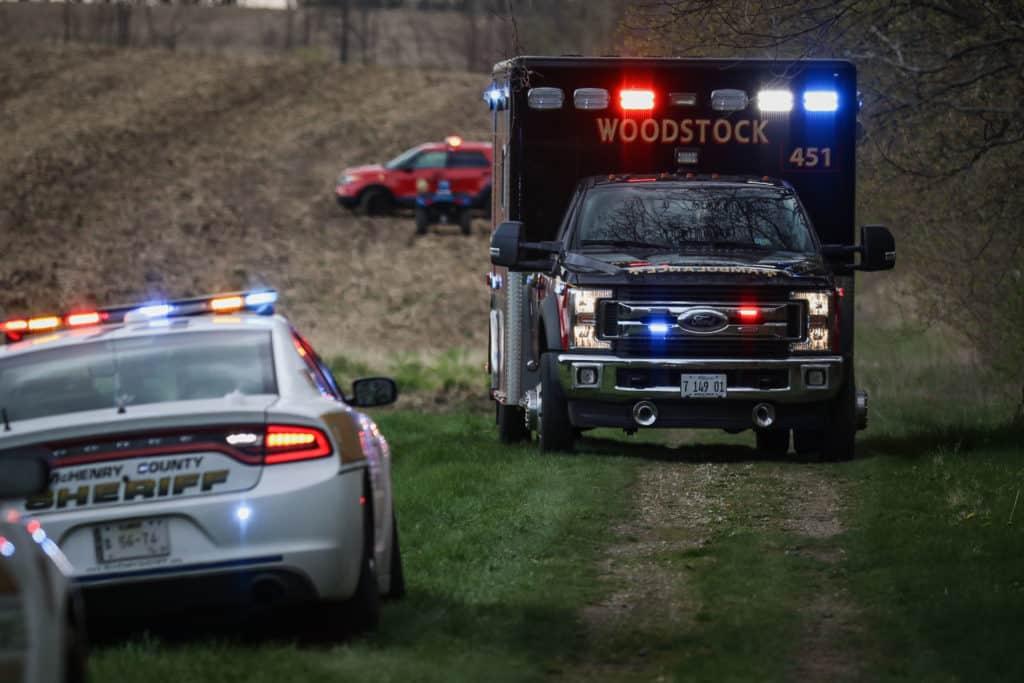 Man suffers life-threatening injuries after dirt bike crash near Woodstock