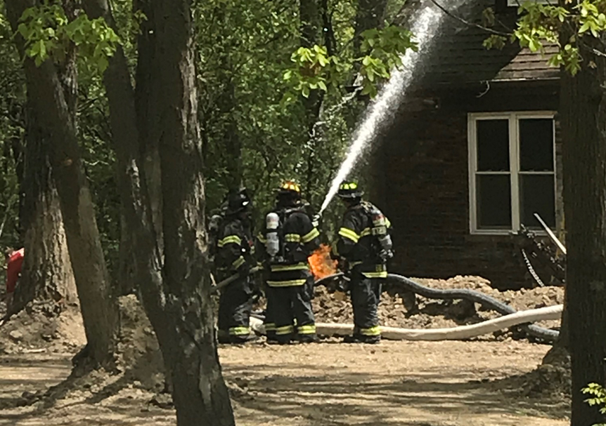 Homeowner digging into ground struck natural gas line, causing fire in Deer Park, officials say