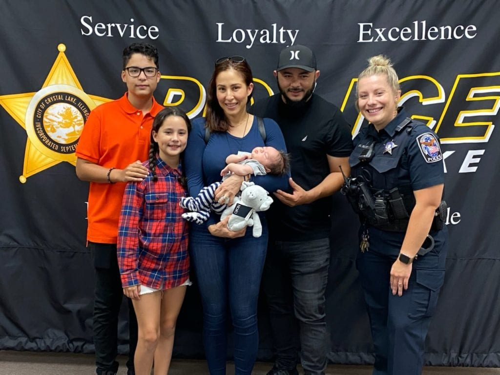 Police officer saves baby who stopped breathing in Crystal Lake after 14-year-old calls 911